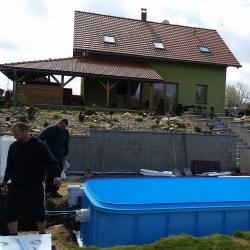 Kruhový bazén zapuštěný