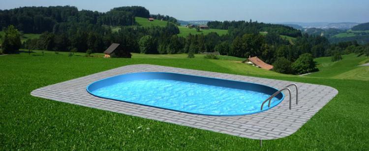 Bazénový set 1 - plastový bazén v akci