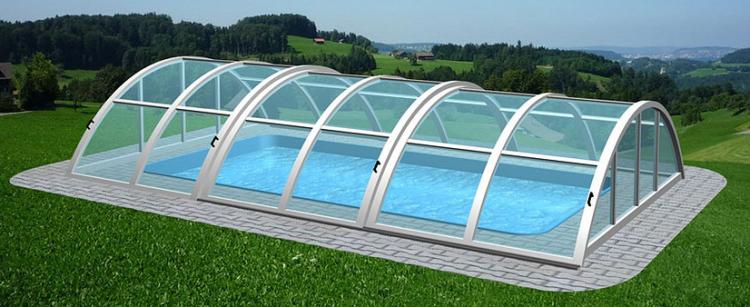 Akční bazénový set 9 - obdélníkový bazén se zastřešením