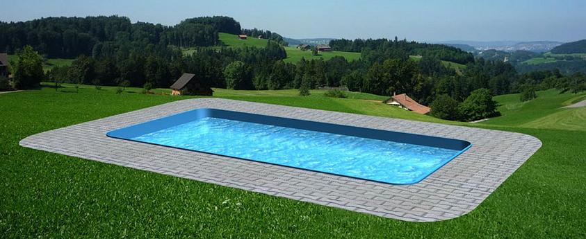 Obdélníkový plastový bazén - výroba bazénů - zvýhodněný set