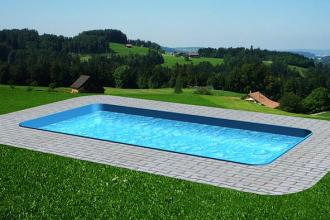 Obdélníkový plastový bazén