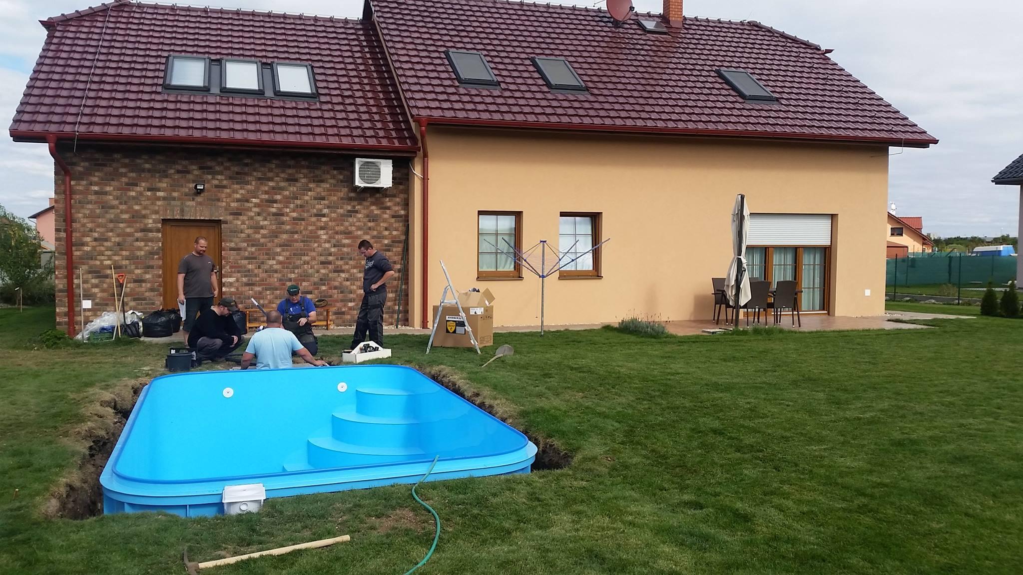 Zahradní zapuštěný plastový bazén - Bazény-výroba